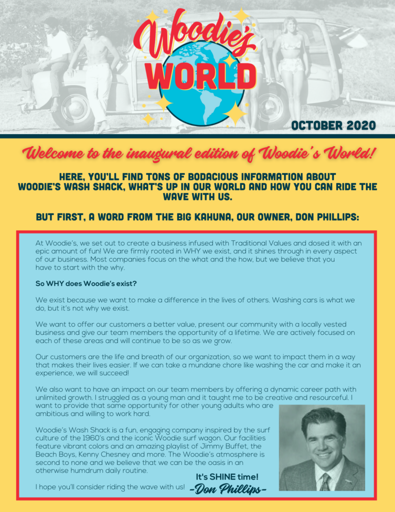 Woodies World, October 2020, page 1
