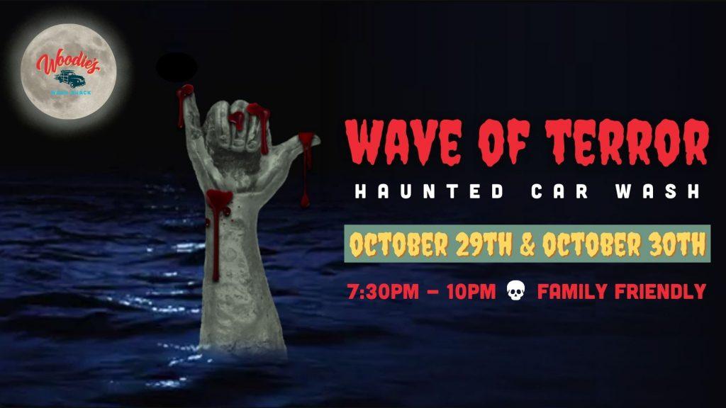 wave of terror woodie's wash shack halloween event pinellas park, fl